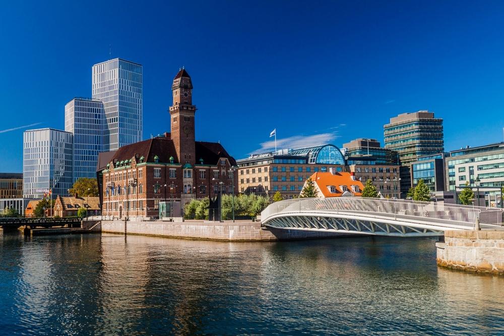 Городской пейзаж Мальме, Швеция