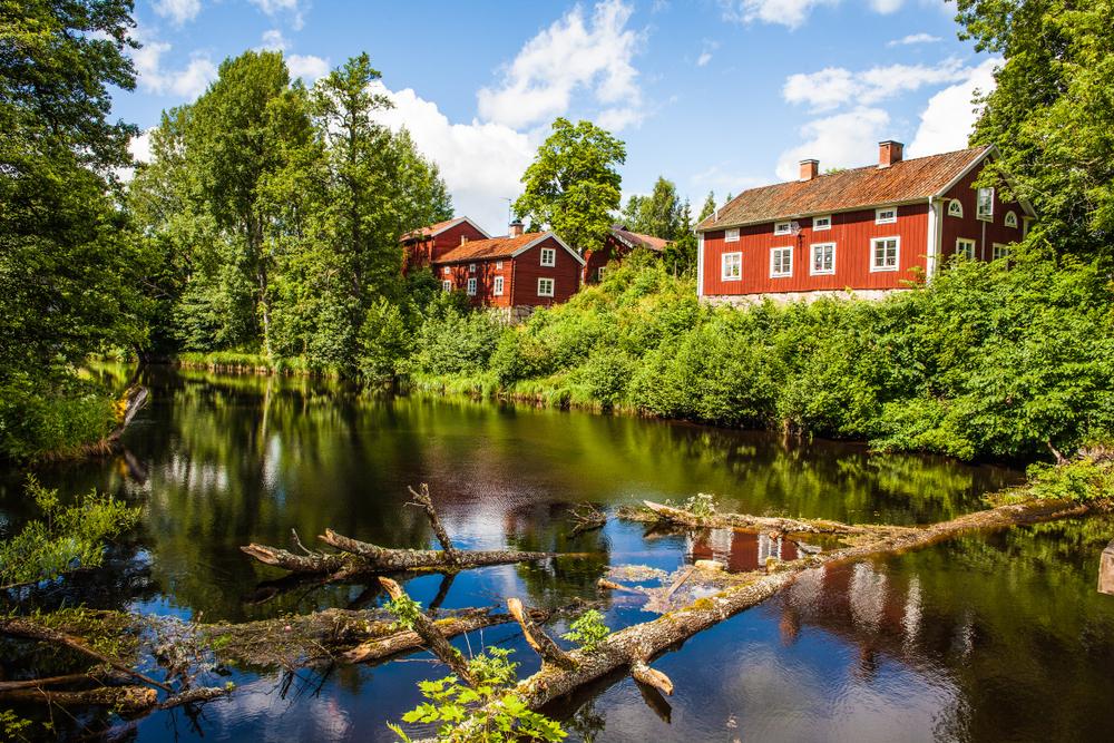 Красные дома Вестманланд, Швеция