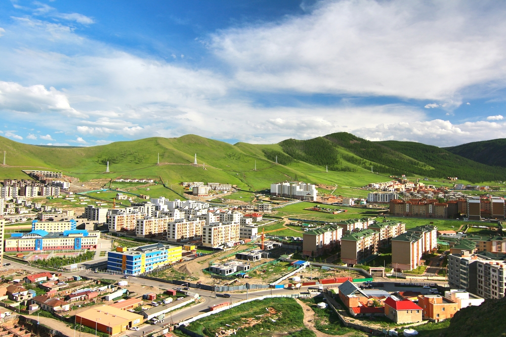 Панорамный вид на Улан-Батор, Монголия