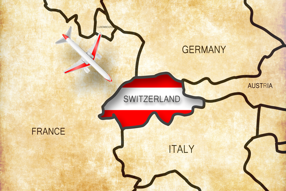 Швейцария на карте