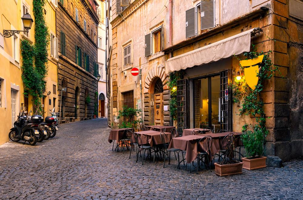 Уютная улица Рима