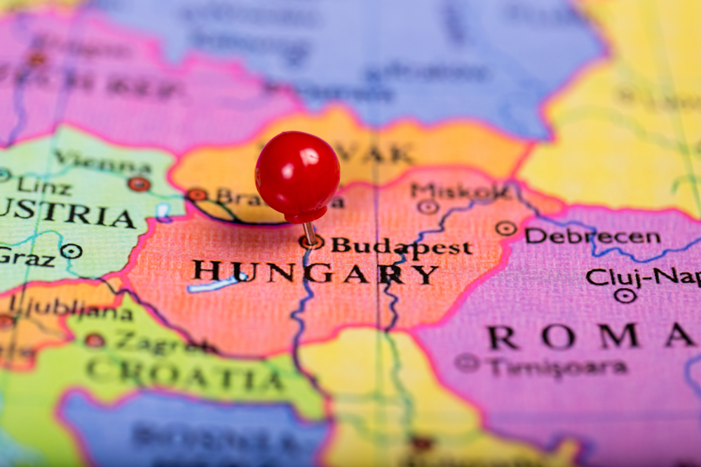 Венгрия на карте