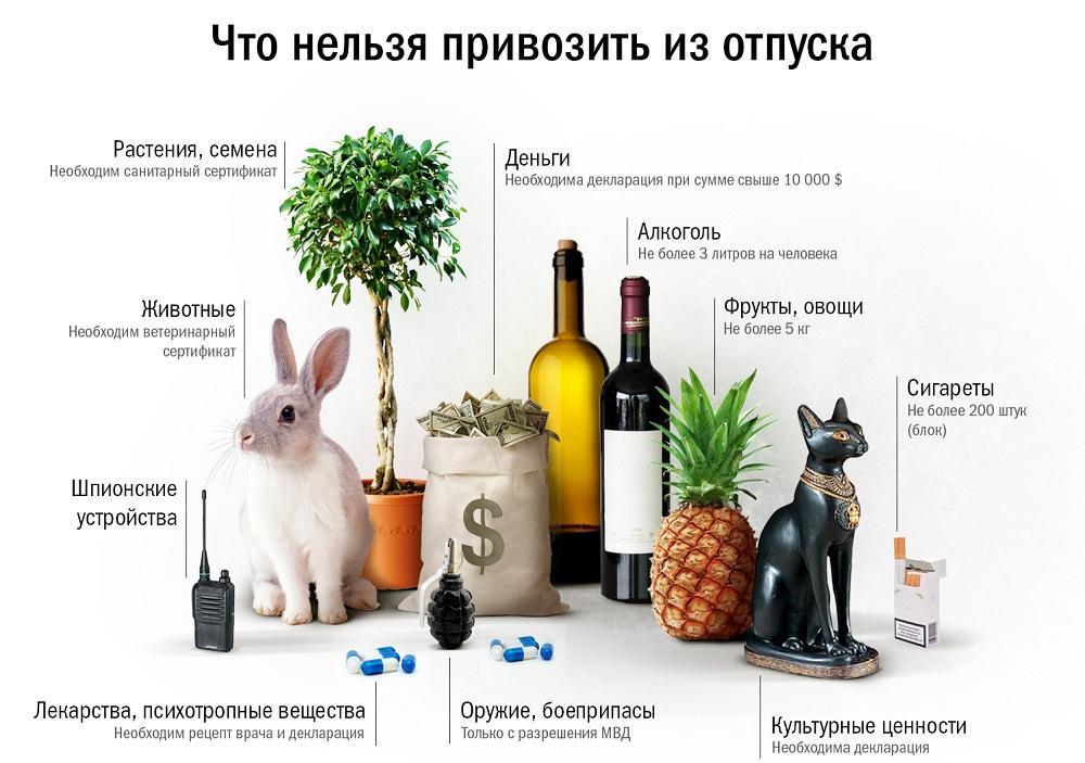 Что запрещено к ввозу в Россию