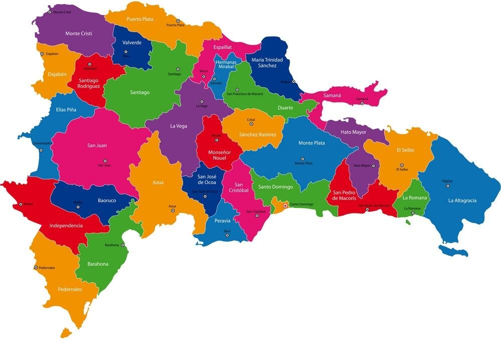 Карта Доминиканской Республики