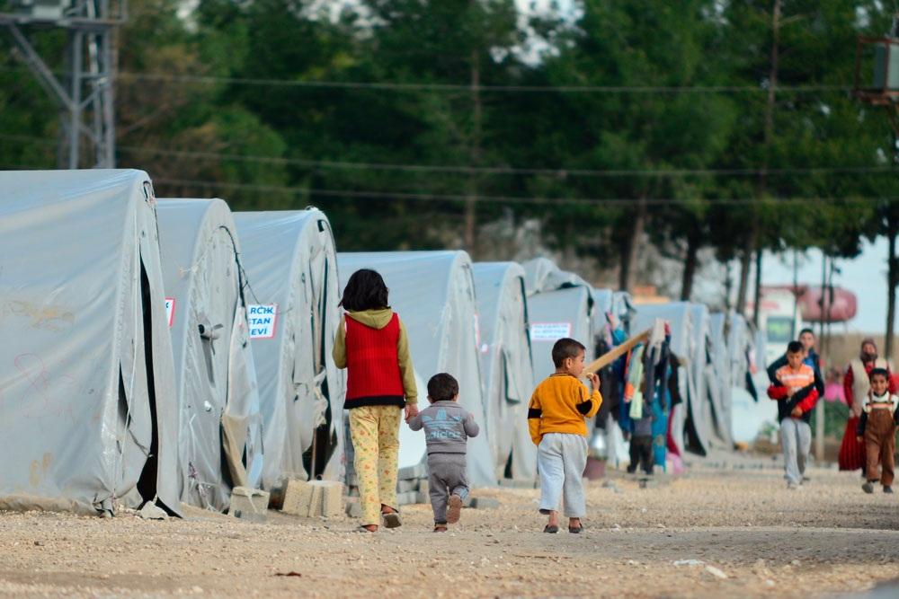 Лагерь для беженцев в Европе