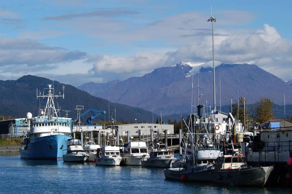 Морской порт на Аляске