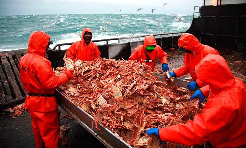 Работники на рыболовецких судах