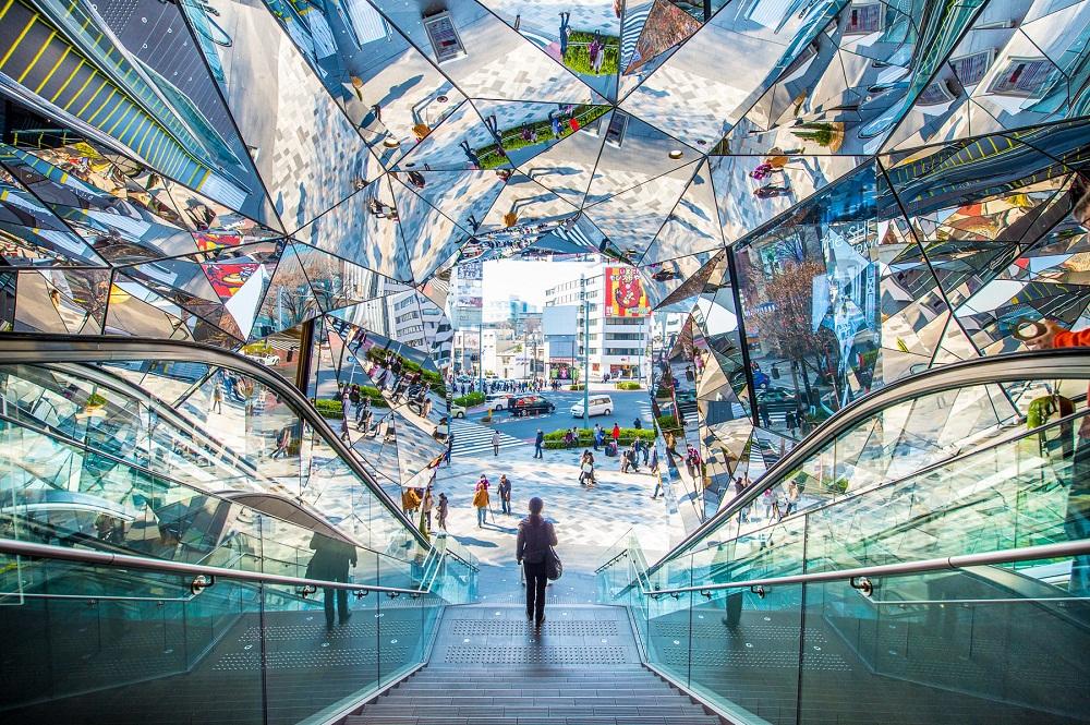 Торговая улица Омотэсандо в Токио
