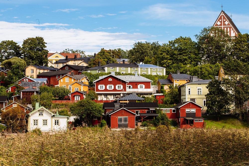 Городок Порвоо в Финляндии