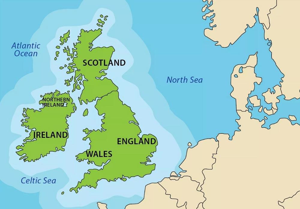 Карта Великобритании
