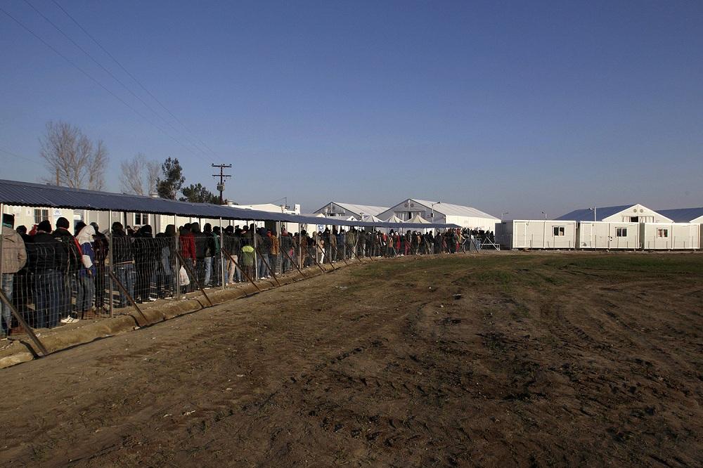 Лагерь для беженцев в Польше