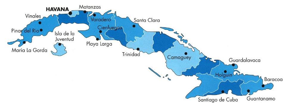 Регионы Кубы