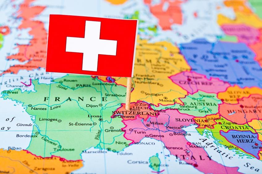 Швейцария на карте мира