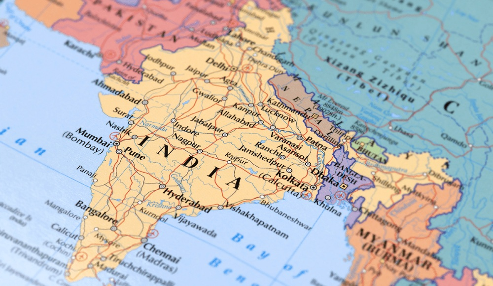 Индия на карте