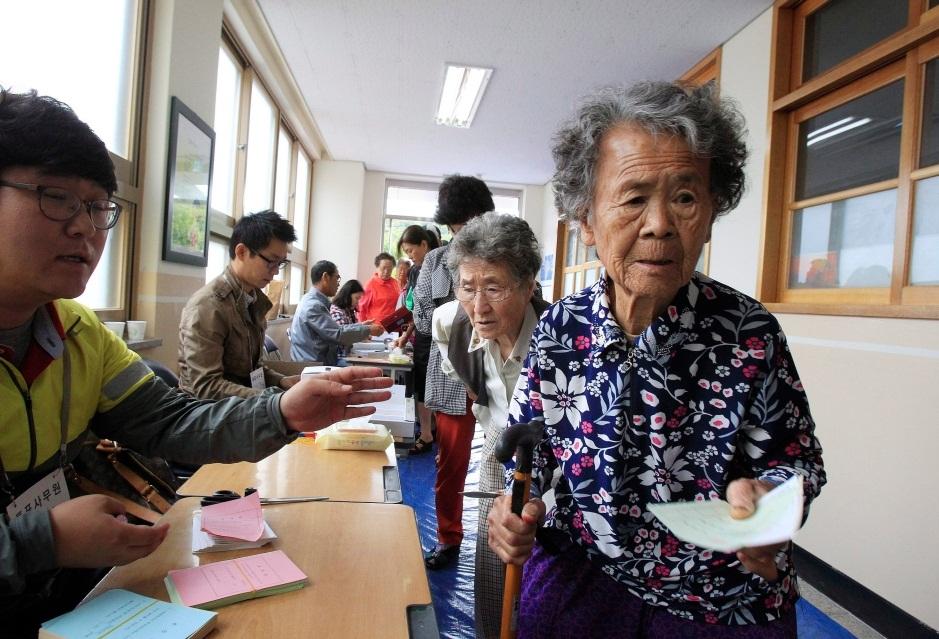 Пенсионеры в Южной Корее