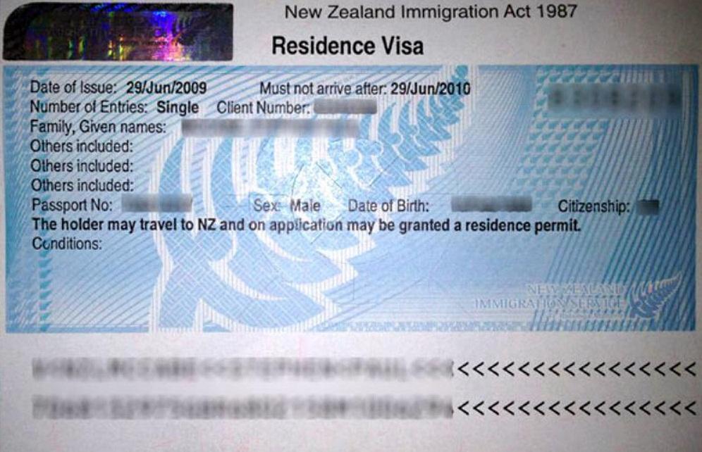 Рабочая виза Resident Visa в Новую Зеландию