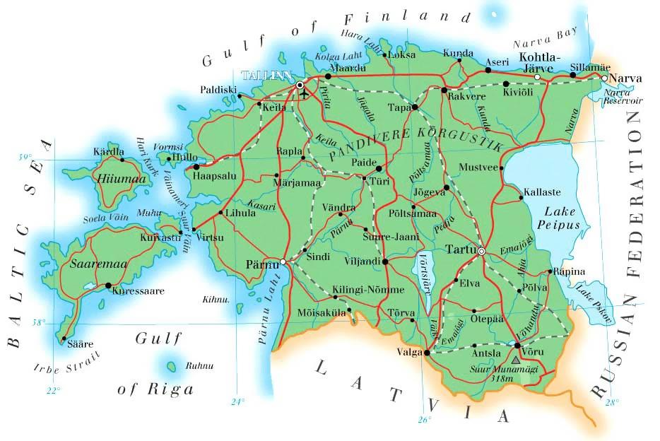 Граница Эстонии и России