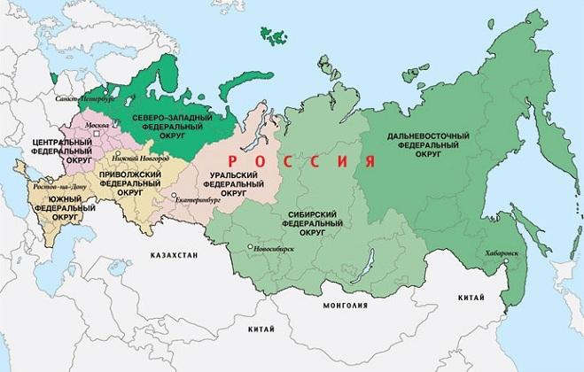 Дальний Восток на карте России