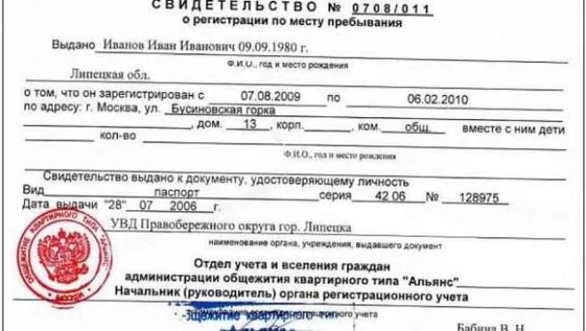 Постановка на миграционный учет иностранных граждан