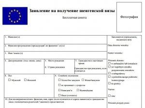 Анкета на шенгенскую визу: необходимые документы и особенности получения